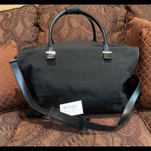 Large Gucci Boston Duffle Bag with Leather Trim